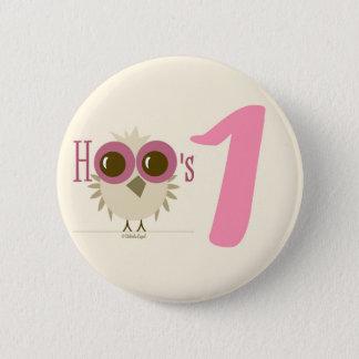 1st Birthday Button 12 month birthday girl