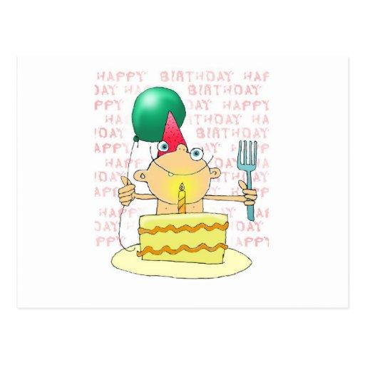 1st Birthday Cake Postcard