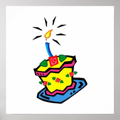 Birthday Cake Posters Art Prints : 1st Birthday Cake Poster Zazzle