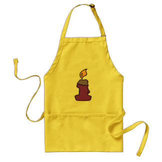 1st Birthday Candle Adult Apron