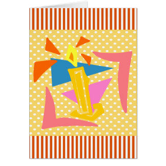 1st Birthday Candle Card