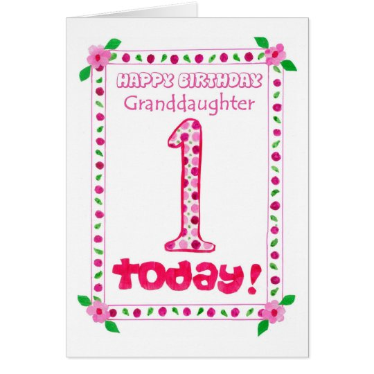 1st birthday card for a granddaughter zazzle 1st birthday card for a granddaughter bookmarktalkfo Choice Image