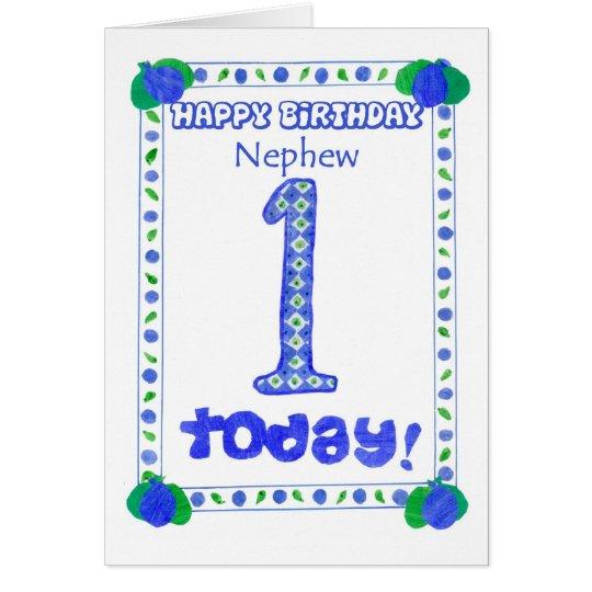 1st Birthday Card For A Nephew