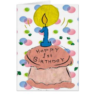 1st Birthday Celebration Card