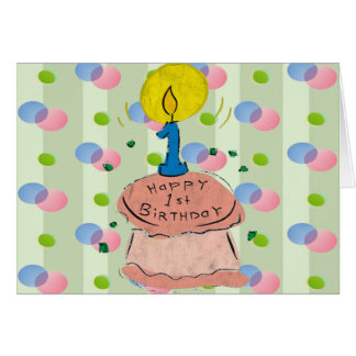 1st Birthday Celebration Card