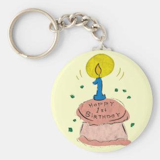 1st Birthday Celebration Keychain
