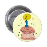 1st Birthday Celebration Pinback Buttons