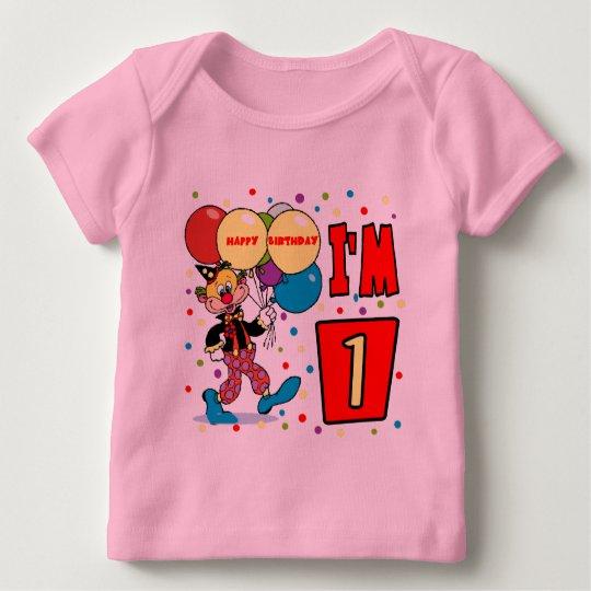 1st Birthday Clown Birthday Baby T-Shirt