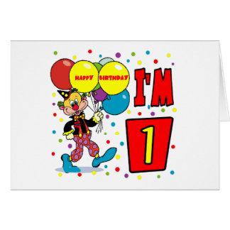 1st Birthday Clown Birthday Card