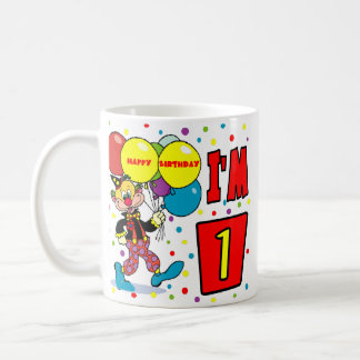 1st Birthday Clown Birthday Coffee Mug