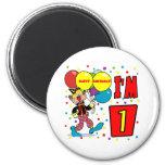 1st Birthday Clown Birthday Fridge Magnet