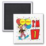 1st Birthday Clown Birthday Refrigerator Magnets