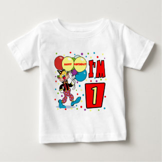 1st Birthday Clown Birthday Tshirts