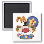 1st Birthday Clown Refrigerator Magnet