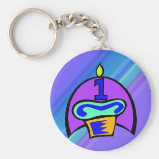 1st Birthday Cupcake Key Chain