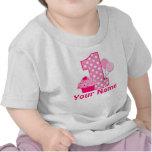 1st Birthday Cupcake Pink Personalized T-shirt