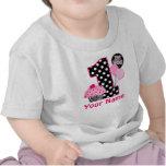 1st Birthday Cupcake Zebra Personalized Shirt