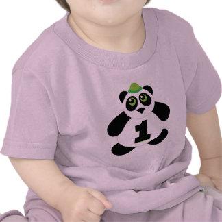 1st Birthday Cute Panda T Shirt