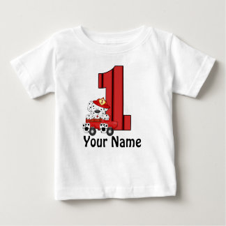 1st Birthday Dalmation Personalized T Shirt