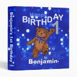 1st Birthday Dancing Teddy Bear Memories 1 Inch Binders