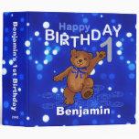 1st Birthday Dancing Teddy Bear Memories 2 Inch 3 Ring Binder