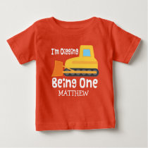 1st Birthday Digging Being One Personalized TShirt