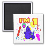 1st Birthday Dinosaur Birthday Magnets