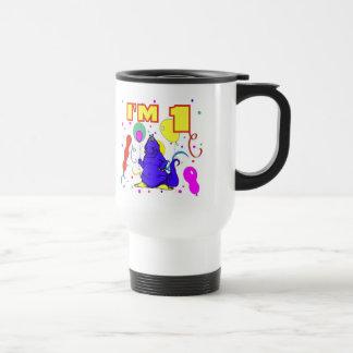 1st Birthday Dinosaur Birthday Travel Mug