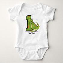 1st Birthday Dinosaur Customize Baby Bodysuit