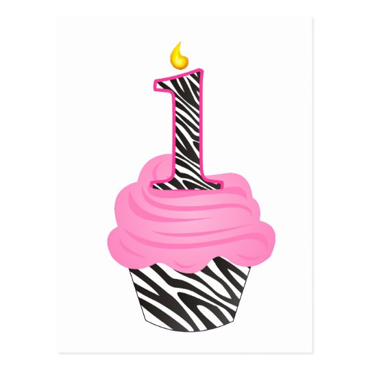 1st Birthday Diva Cupcake Postcard