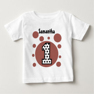 1st Birthday Dots and Bubbles One Year Old V38 Baby T-Shirt