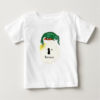 1st Birthday Dragon Baby T-Shirt