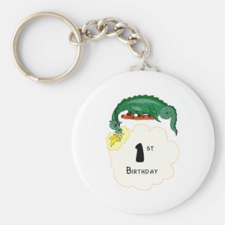 1st Birthday Dragon Keychain