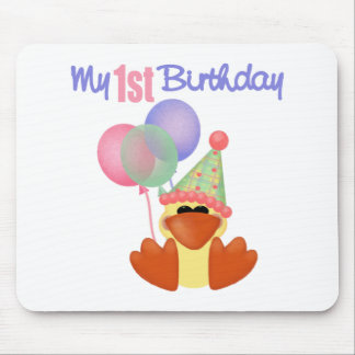 1st Birthday Duck Birthday Mouse Pad