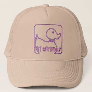 1st Birthday Duck Trucker Hat