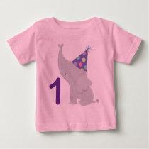1st Birthday Elephant Baby T-Shirt