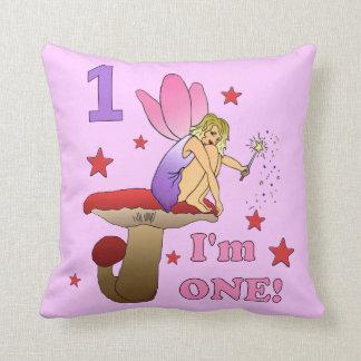 1st Birthday Fairy Throw Pillows