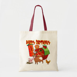 1st Birthday Farm Birthday Tote Bag