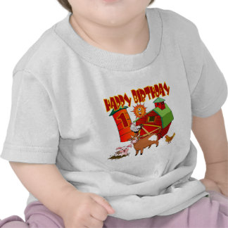 1st Birthday Farm Birthday T-shirts