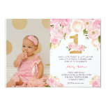 1ST birthday  FIRST Beautiful Floral Invitation, Card