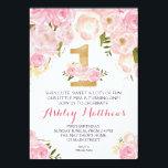 "1ST birthday FIRST Beautiful Floral Invitation, Card<br><div class=""desc"">1ST birthday FIRST Beautiful Floral Invitation, </div>"