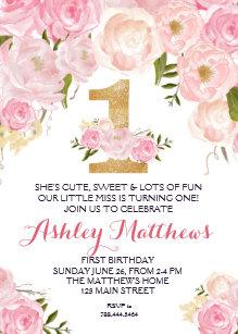 floral birthday invitations zazzle