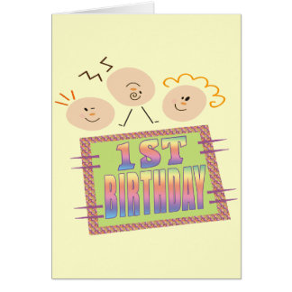 1st Birthday For Infants Card