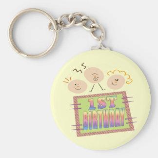 1st Birthday For Infants Keychain