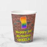 [ Thumbnail: 1st Birthday: Fun Graffiti-Inspired Rainbow 1 ]