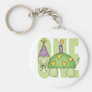 1st Birthday Gift Basic Round Button Keychain