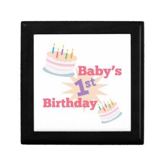 1st Birthday Keepsake Box