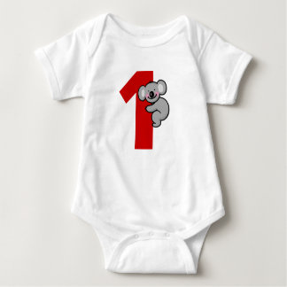1st birthday gift (cute koala bear) baby bodysuit