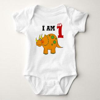 1st birthday gift, dinosaur triceratops baby bodysuit