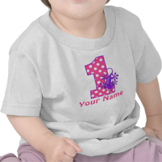 1st Birthday Girl Gecko Personalized T-shirt